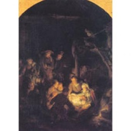 Herdarnas tillbedjan (Rembrandt, 1646) m kuvert