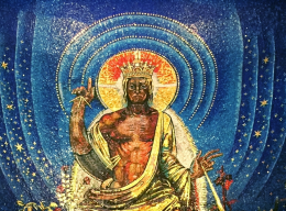 Kristus Konungen i paradiset (detalj, A6)