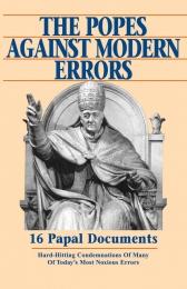 Popes against modern errors