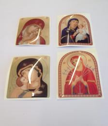 Jungfru Maria, klistermärke, stort