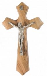 Krucifix, 16 cm, kantiga armar