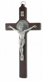 Benedictus-krucifix, 25cm, mörkt trä