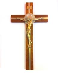 Krucifix, guldfärgad metallcorpus