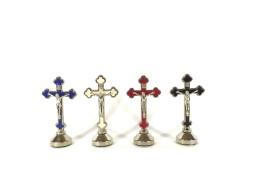 Krucifix-magnet, vit, stående