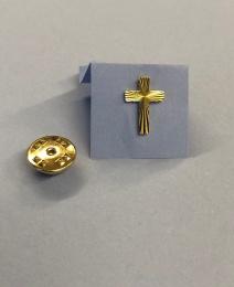 Pin: Kors, guldfärgat