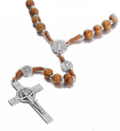 Benedictus-rosenkrans, brun+silvrig