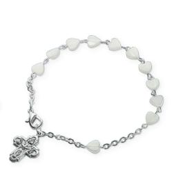 1-dekad av pärlemor, hjärtformade pärlor