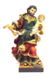 Josef m Jesusbarn, målad (19 cm)