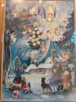Julkort - Änglastege