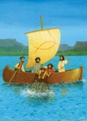 Fiskafänget / Jesus i båt