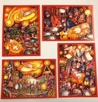 Julkort av polsk konstnär