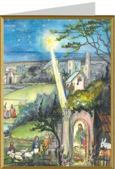 Julkort, Utanför Betlehem, stad och land