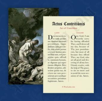 Actus Contritionis (Ångerbön, latin-engelska)