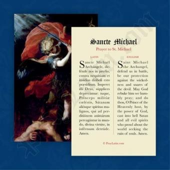 Sancte Michael (Bön till ärkeängeln Mikael, latin-engelska)