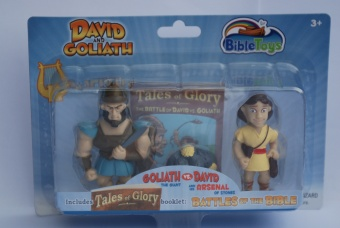 Actionfigurer David och Goliat