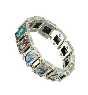 Helgon-armband, silverf. metall