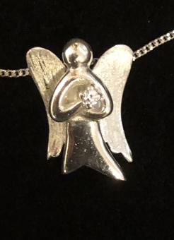 Halssmycke – Ängel, silver m kedja