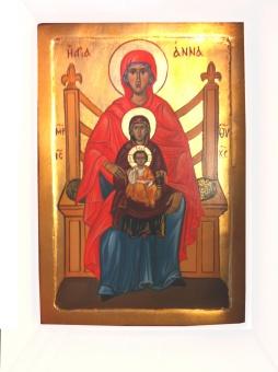 "Heliga Anna, ""själv tredje"", grek. ikon"