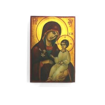 Guds Moder & Välsignande J-barn (12x17)