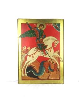 Sankt Göran och Draken, guldf. kant