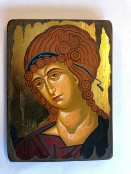 Ängel (detalj, 15x20), äkta ikon