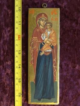 Stående Maria & Jesusbarnet (6x17), äkta ikon
