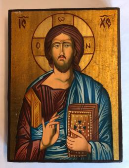 Kristus Allhärskaren / Pantokrator (12x16), äkta ikon