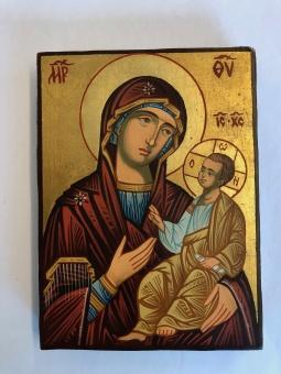 Maria & Jesusbarnet (12x17), äkta ikon