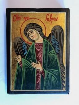 Ärkeängeln Gabriel (12x16), äkta ikon