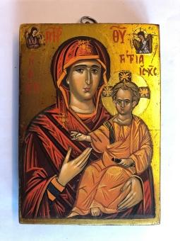Maria & Jesusbarnet (11x15), äkta ikon