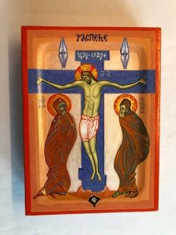 Korsfästelsen (15x20), äkta ikon
