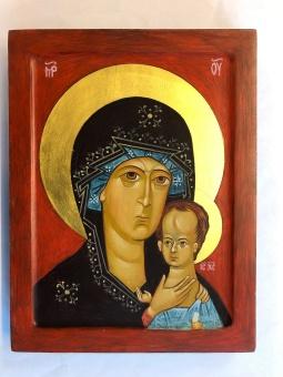 Maria & Jesusbarnet (20x26), äkta ikon