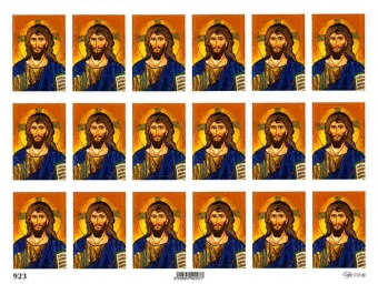 Jesus-ikon - ark 18 klistermärken