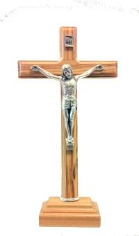 Krucifix, stående, trä (18,5 cm)