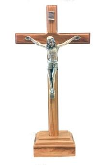 Krucifix, stående, trä (28 cm)