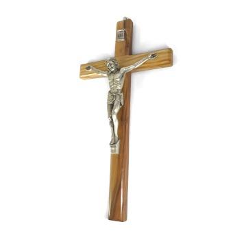 Krucifix, latinskt, trä (25 cm)