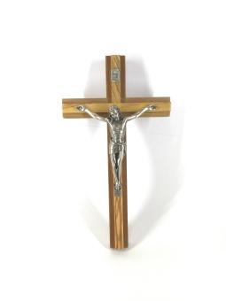 Krucifix, två träslag (20 cm)