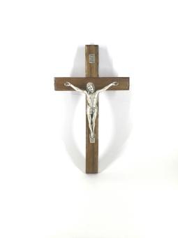 Krucifix, mörkt trä (20 cm)