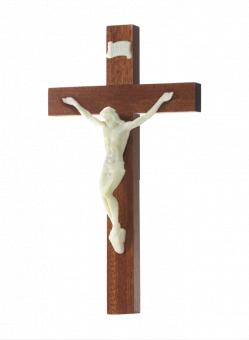 Krucifix, trä, självl. corpus, 20 cm