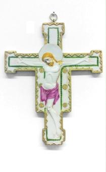 Krucifix, ljust, relief