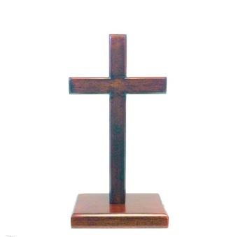 Stående kors, mahogny, S (15 cm)