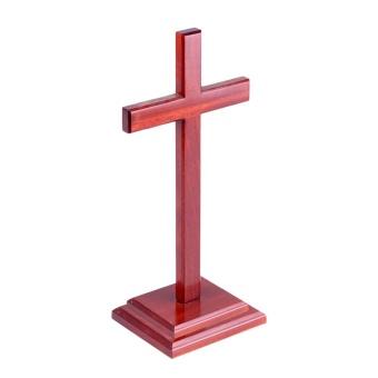 Stående kors, mahogny, XXL (60 cm)