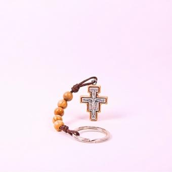 Nyckelring III, San Damianokrucifix, olivträ, Israel