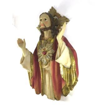 Jesu Hjärta, orant-ställning (väggstatyett)