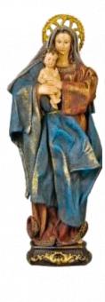 Maria, stående m barn, tygkläder, 30 cm