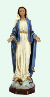 Madonna Immaculata, målad (20 cm)