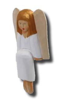 Felicia (sittande ängel), 20 cm, vit