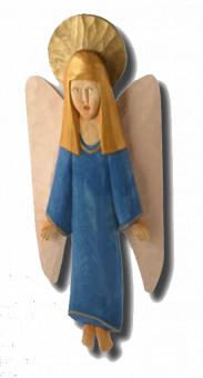 Engla (vägghängande ängel), 56 cm, mörkblå