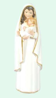 Madonna med barn, vit mantel (20 cm)