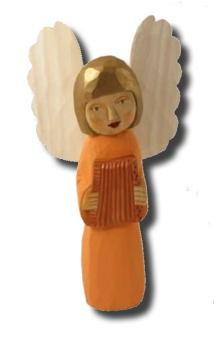 Daniel (ängel m dragspel), 27 cm, aprikos